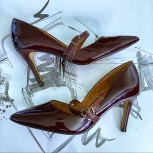 Halogen plum  Patent Leather Heels Size 5